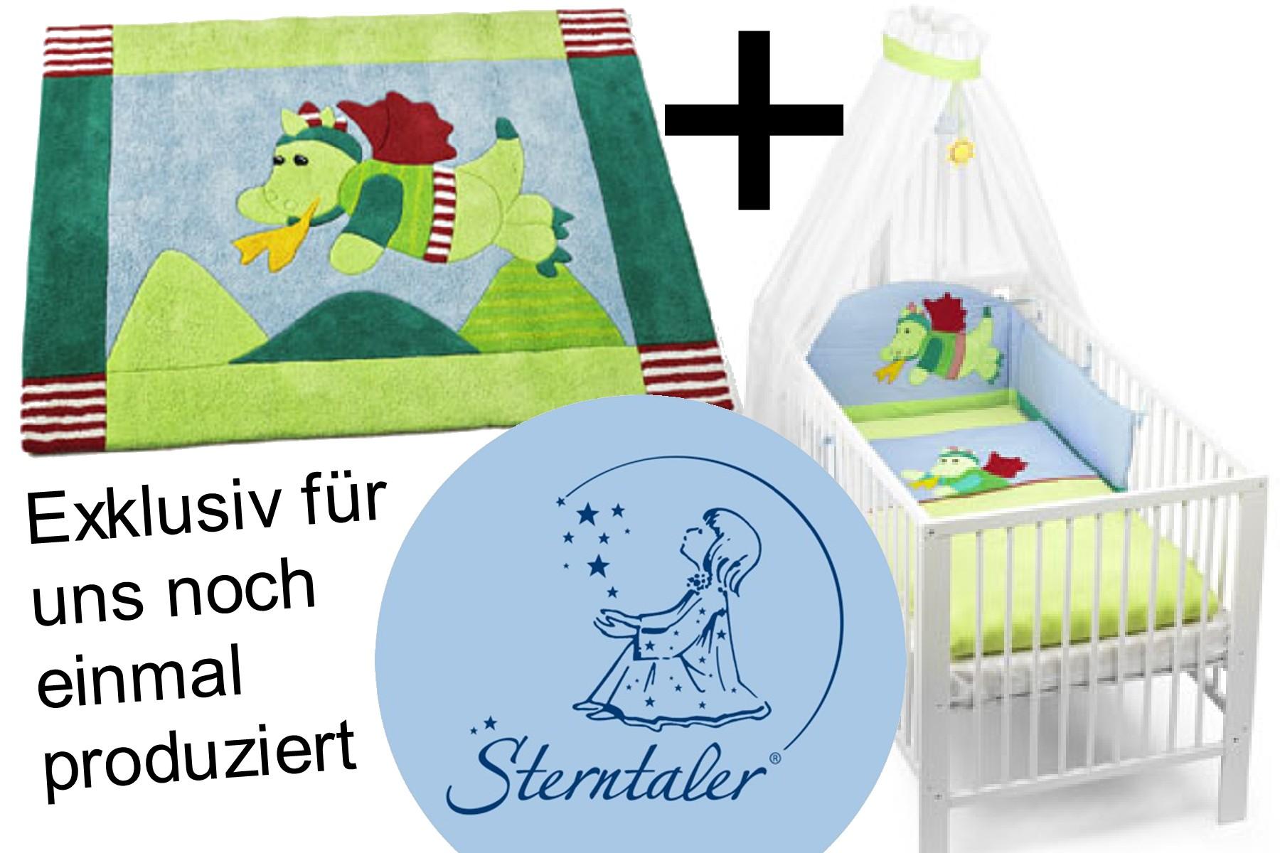 Kinderteppich sterntaler  Bettset UND Kinderzimmerteppich Drache Diego STERNTALER