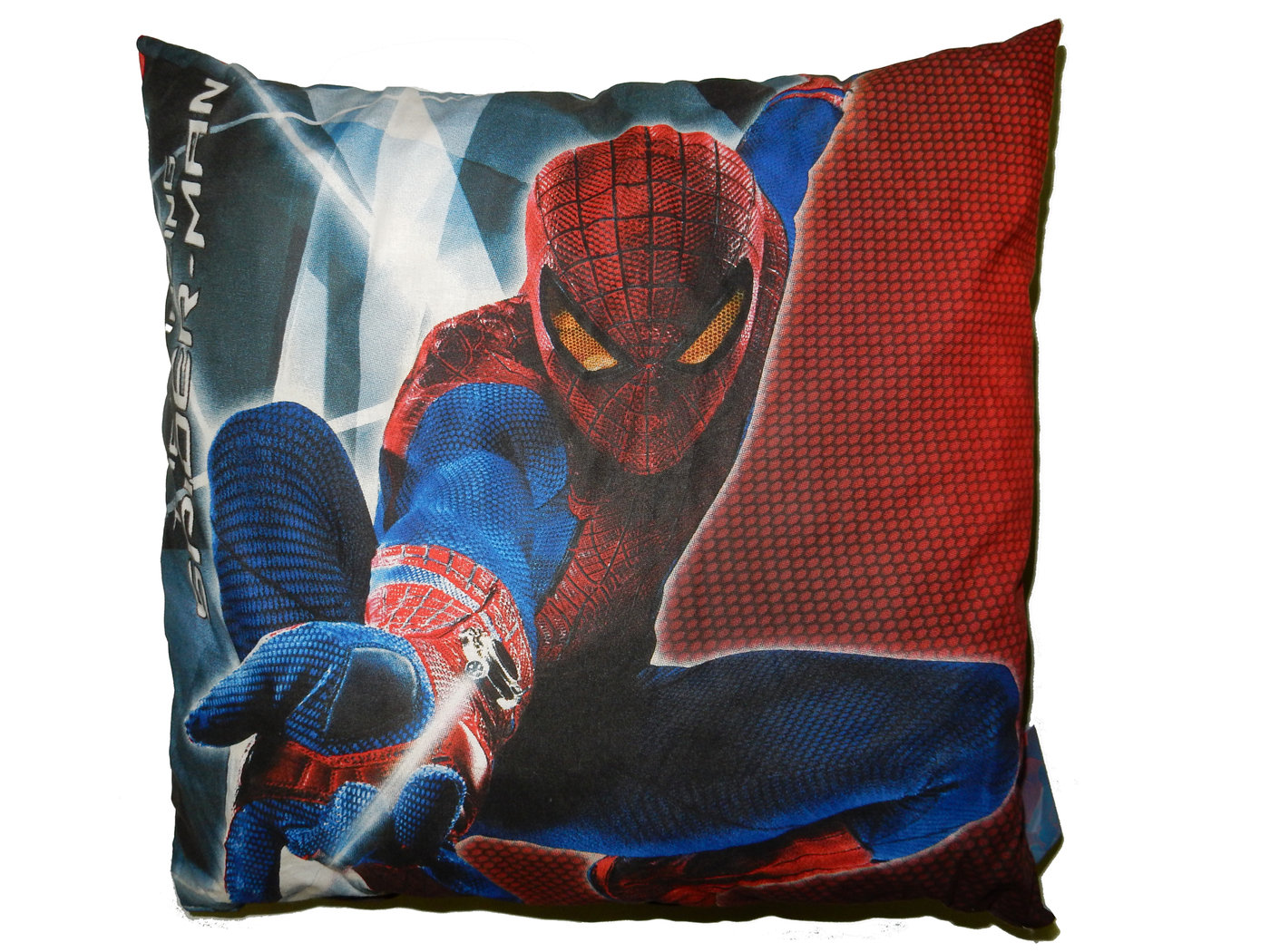 deko kissen 35x35cm spiderman mit 2 motiven kinderzimmer kinder hk1455281 spielwaren express. Black Bedroom Furniture Sets. Home Design Ideas