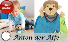brandneue Spielwaren Serie für Babys von Sterntaler 2014: Anton der Affe