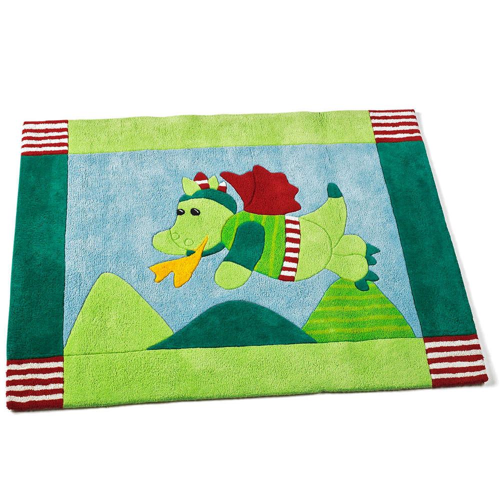 Jungen Kinderzimmer Teppich Baumwolle Diego Drache Sterntaler 96871