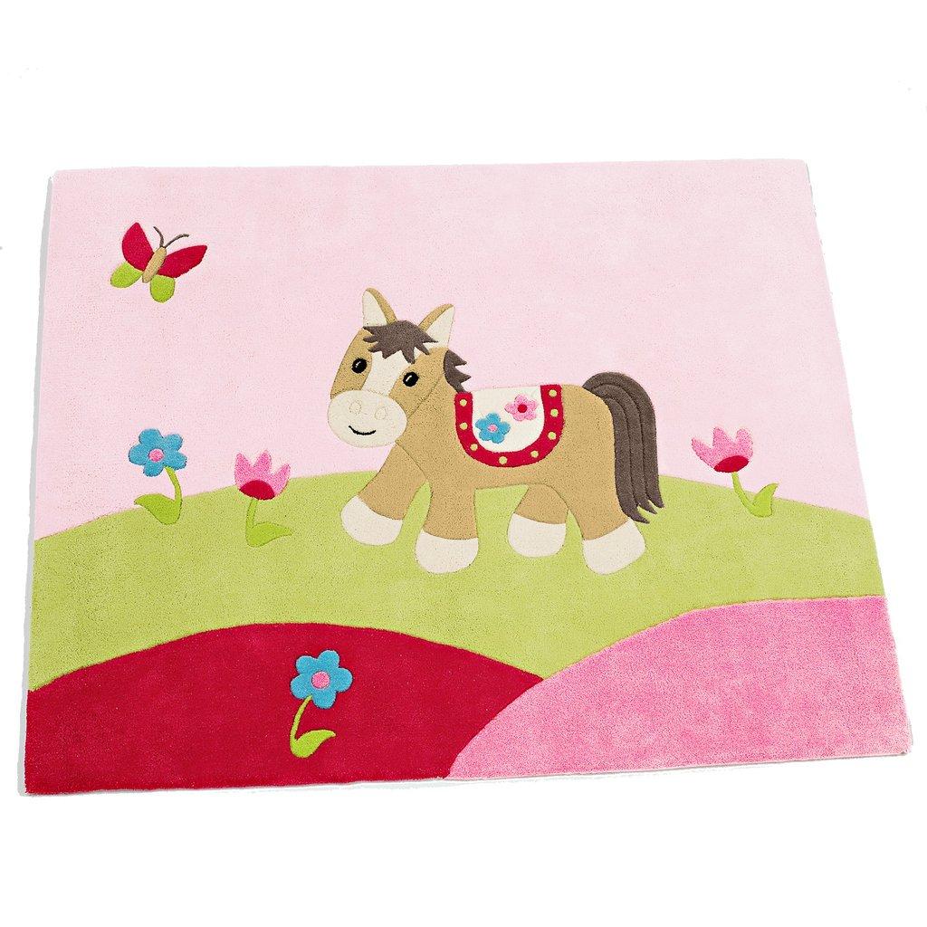 kinderzimmer baumwolle teppich paula das pferd sterntaler 96074 4004701736318 ebay. Black Bedroom Furniture Sets. Home Design Ideas