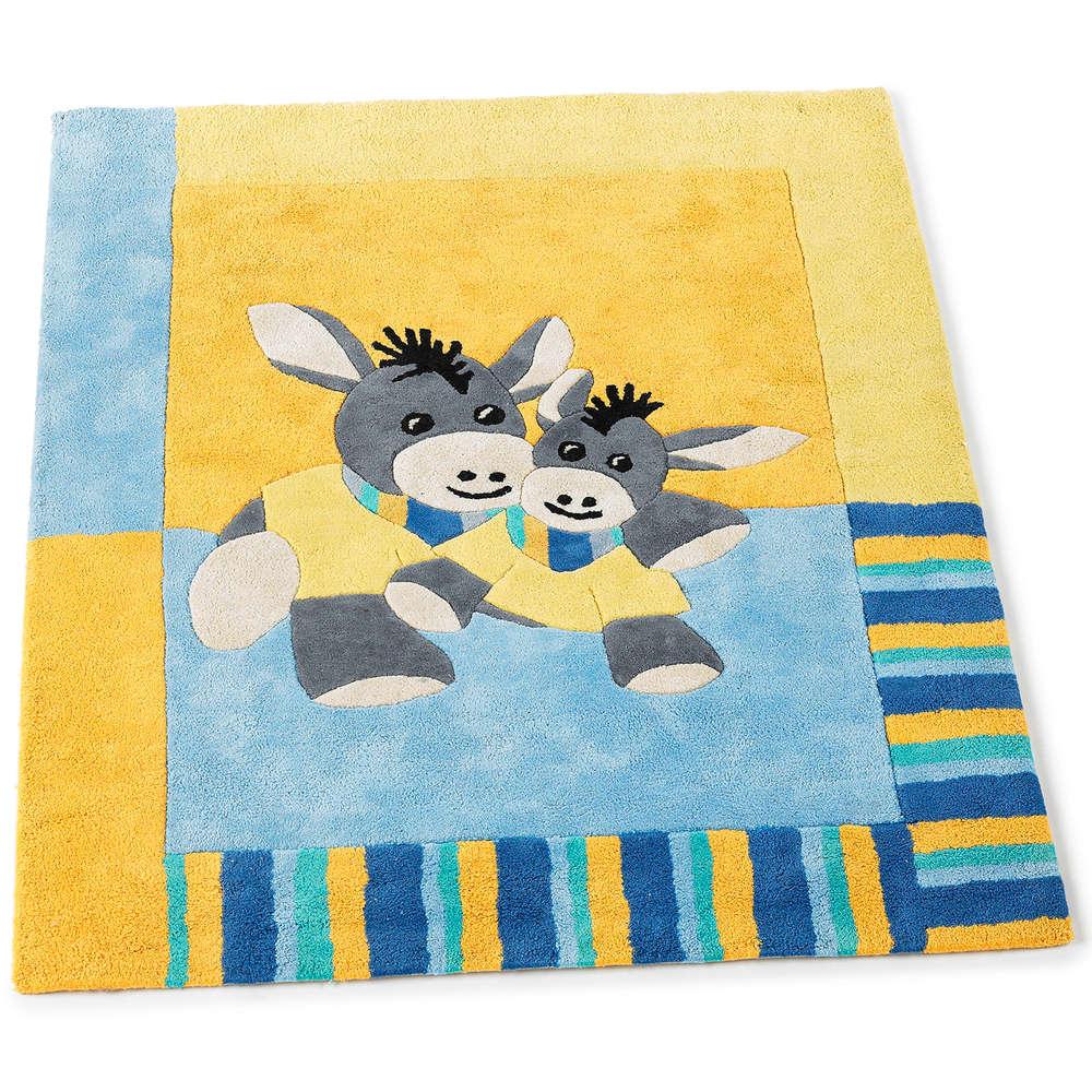 Kinderzimmer Teppich Aus Baumwolle 100x120cm Emmi Der Esel Sterntaler 96652