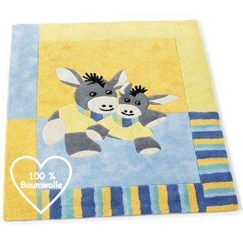 Kinderzimmer Teppich aus 100% Baumwolle Emmi der Esel STERNTALER 96652