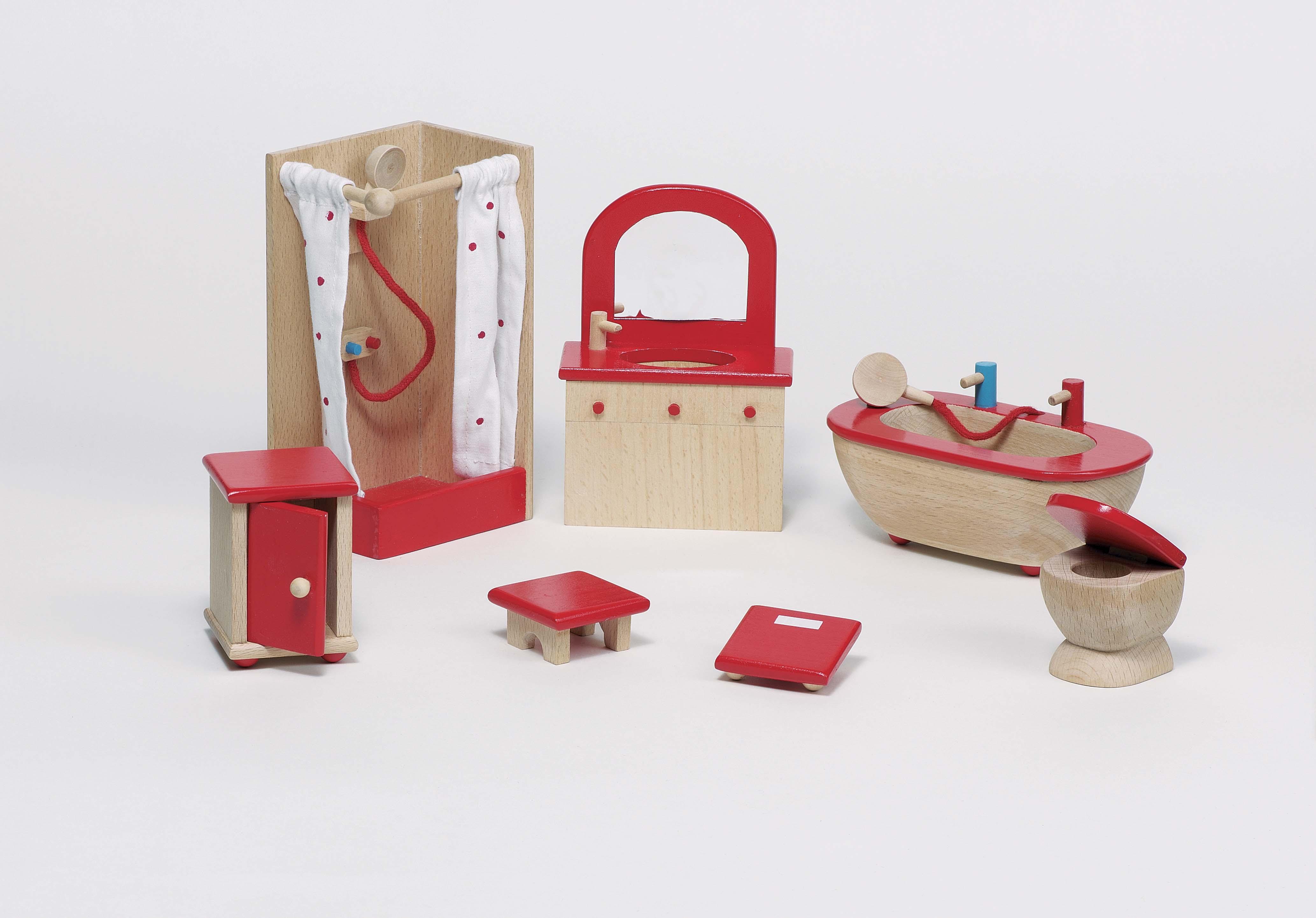 goki 51959 Badezimmer Holz Puppenhaus Möbel