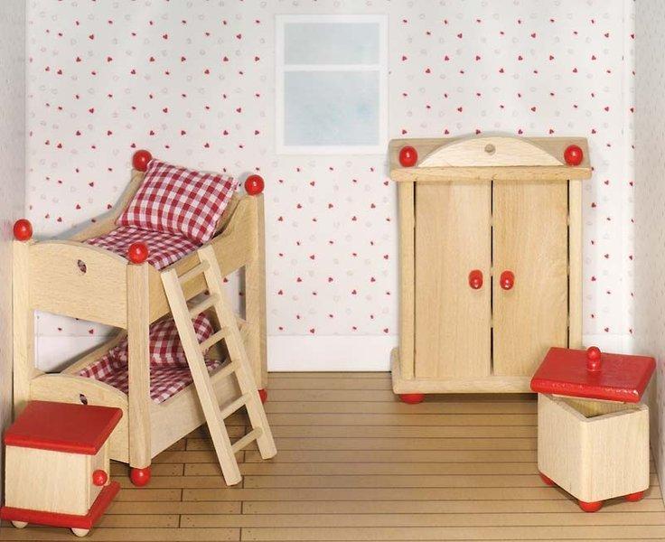 Etagenbett Für Puppenhaus : Goki kinderzimmer holz puppenhaus möbel