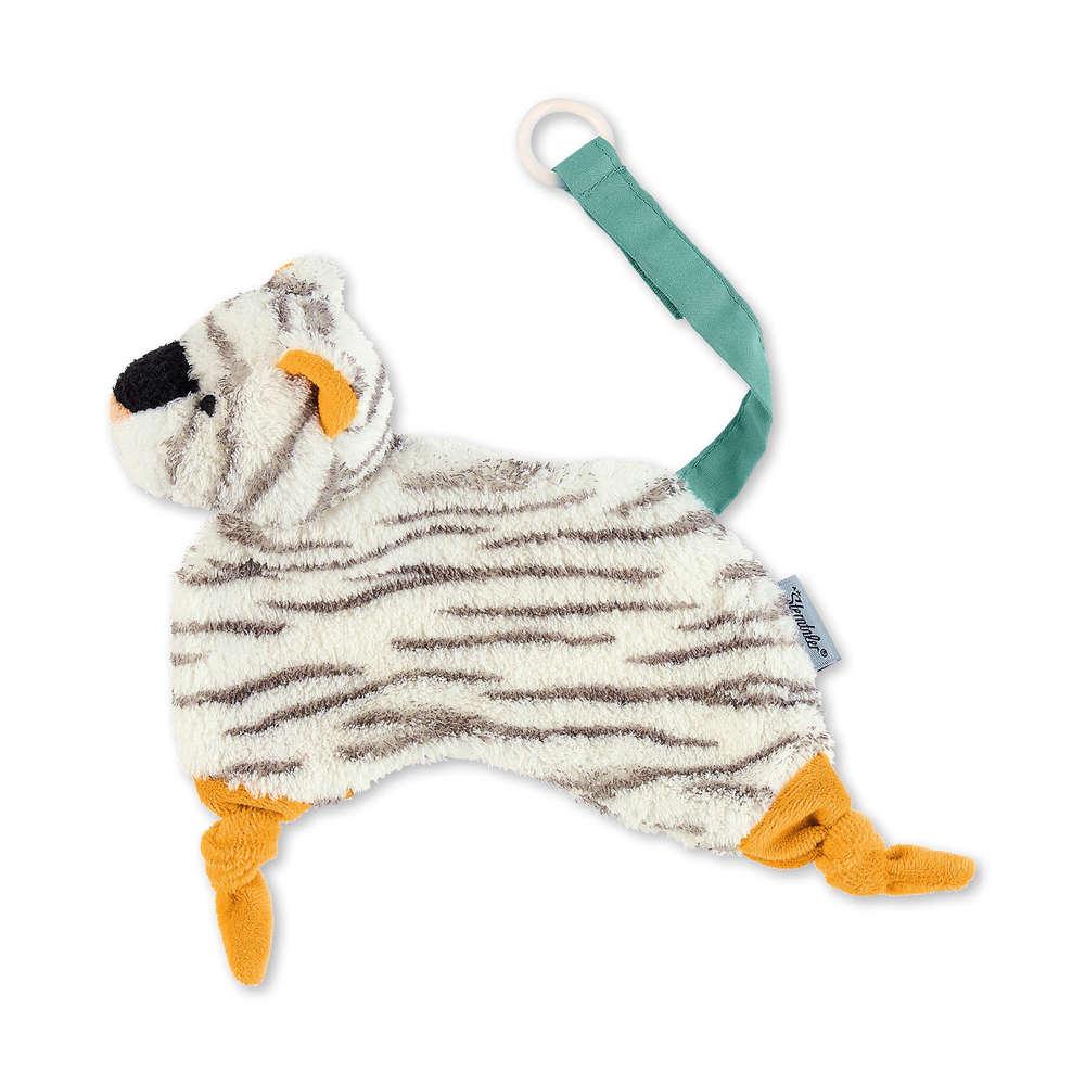 Sterntaler Tr/äumli Geschenkset Schmusetuch Tiger Tapsi mit Namen bestickt Schnullerkette Baby Geschenk zur Geburt Schnueffeltuch