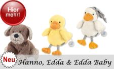 Neuheit 2019 Sterntaler Serie Hanno der Hund und Ente Edda - neues Design