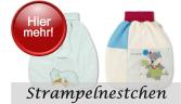 Strampelnestchen gibt es in zwei Qualitäten, dem luftig, leichten Jersey für den Sommer und die wärmere Microfleece Variante.