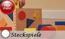 Steckspiele - Stapelspiele - Be-und Entlade Lernspiele